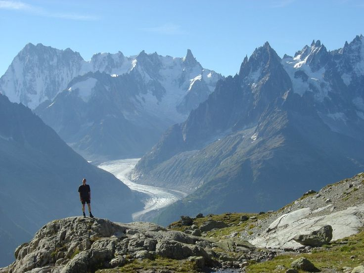 Mt Blanc Massif from the French side of the Tour du Mont Blanc