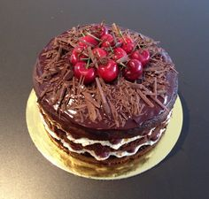 Image result for covering a cake in chocolate bark