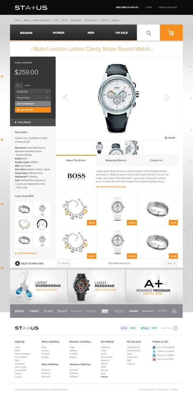 Status Accessories, Website & Online Store on Web Design Served