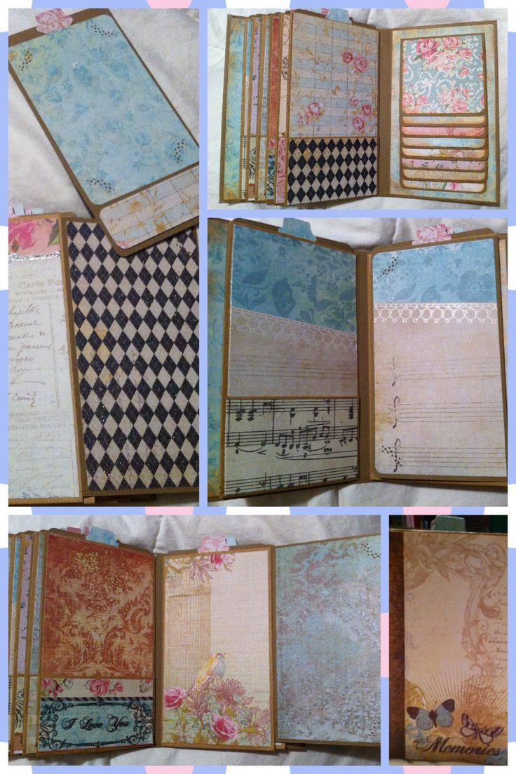 Vertical paper bag mini-album - just the beginning. Tutorial from my sister scrapper - awesome!!
