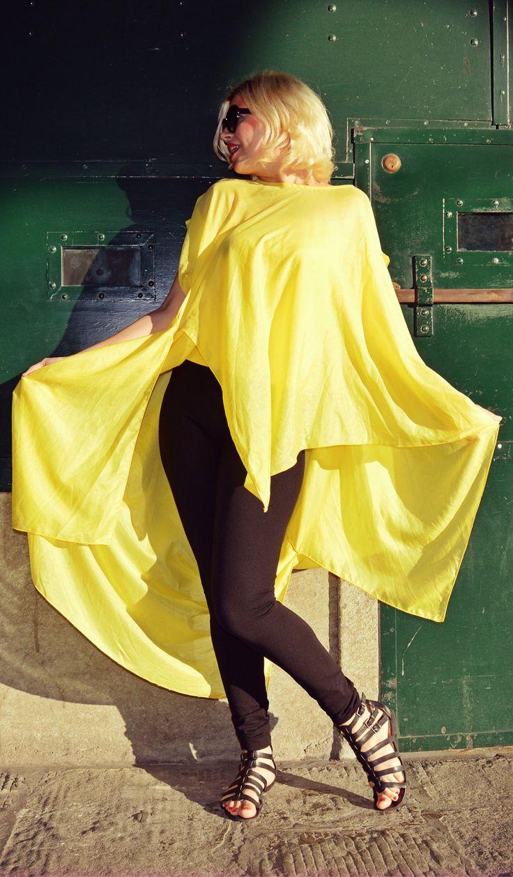 Yellow Summer Top, Funky Summer Blouse, Extravagant Summer Blouse, Funky Yellow Tunic, Boho Summer Blouse TT92 by TEYXO https://www.etsy.com/listing/387232494/yellow-summer-top-funky-summer-blouse?utm_campaign=crowdfire&utm_content=crowdfire&utm_medium=social&utm_source=pinterest