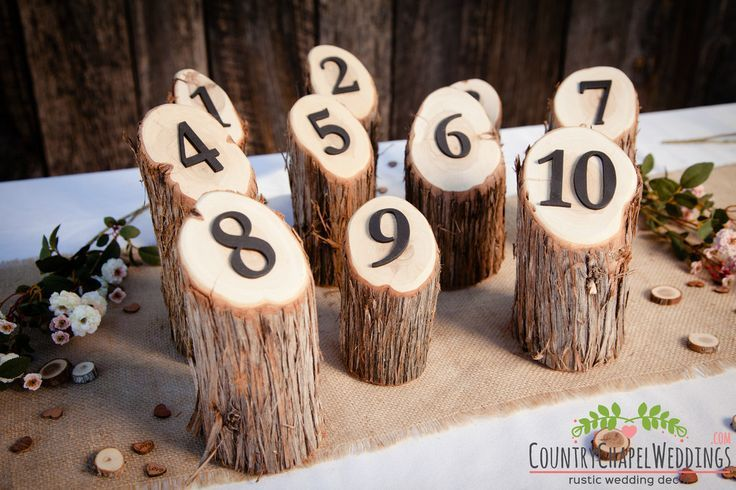 These rustic table numbers will fit right in with your rustic centerpieces, and will ensure that guests find their tables quickly. They are made from a beautiful juniper log that has been sanded, and cut at an angle on top to show off a wooden number so seating is pulled off smoothly.