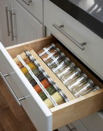 Kitchen spice organization: Spices Drawers, Inagarten, Barefoot Contessa, Kitchens Ideas, Spices Racks, Kitchens Drawers, Ina Garten, Spices Organizations, Kitchens Spices