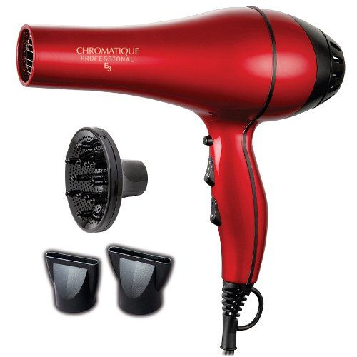 Chromatique Professional E3 5200 Tourmaline Ionic Ceramic Salon Hair Dryer Metallic Red >>> Read more  at the image link.