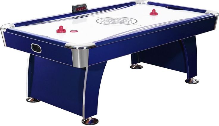 Game Room 7.5 Foot Air Hockey Table W Electronic Scoring  Air Hockey Game New #HATHAWAY #Game #Indoor #AirHockey #Table