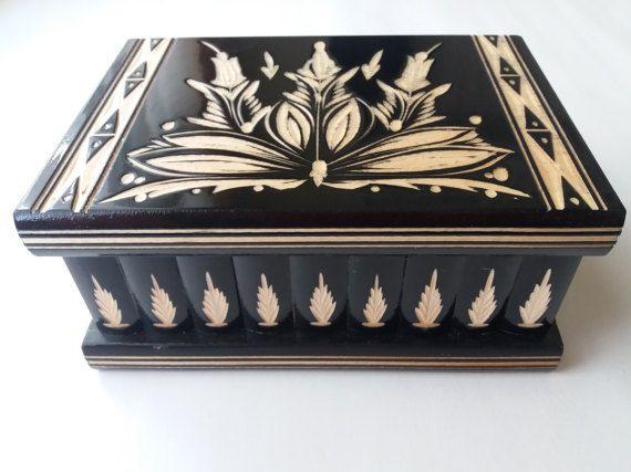 Neue große riesige schwarze Holz puzzle Box geheimer Schatz Abenteuer magische Box Schmuck Lagerung hölzerne Fall schönen handgeschnitzten Box Überraschungsgeschenk