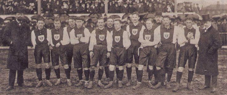 1908: Erstes ofizielles deutsches Länderspiel: Schweiz - Deutschland 5:3