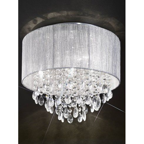 Flush ceiling lights uk 25 pinterest franklite royale 4 light semi flush ceiling fitting with silver shade lighting type from castlegate mozeypictures Choice Image