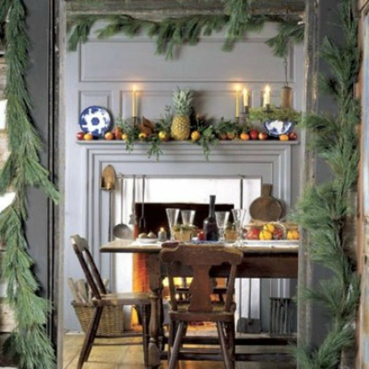 Colonial Decor | 10 Ways To Coastal Holiday Decorating Colonial Christmas  Decorating .