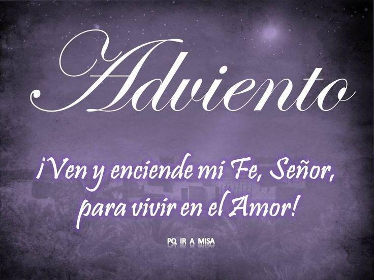 """~¿QUÉ ES EL ADVIENTO? Adviento es un tiempo cuyo nombre (adventus) significa """"venida"""". Al revivir la espera gozosa del Mesías en su Encarnación, preparamos el Regreso del Señor al fin de los tiempos : Vino, Viene, Volverá.  """"El tiempo de Adviento tiene dos características:  ~WHAT IS THE ADVENT? Advent is a time whose name (Adventus) means """"coming"""". By reviving the joyful expectation of the Messiah in his Incarnation, prepare the Return of the Lord in the end times: Wine, comes, will…"""