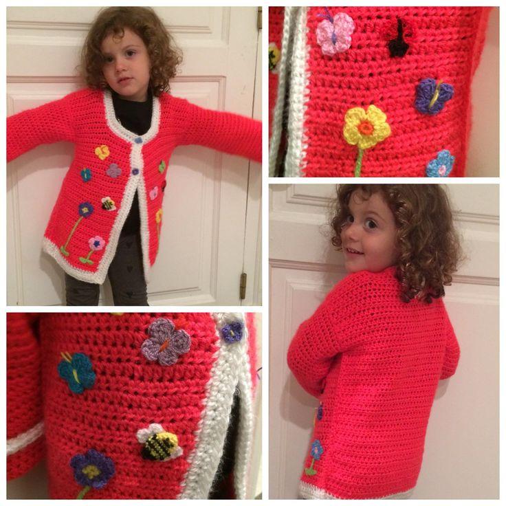 Crochet saco con apliques