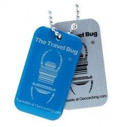 Geocaching QR Travel Bug® - Blue