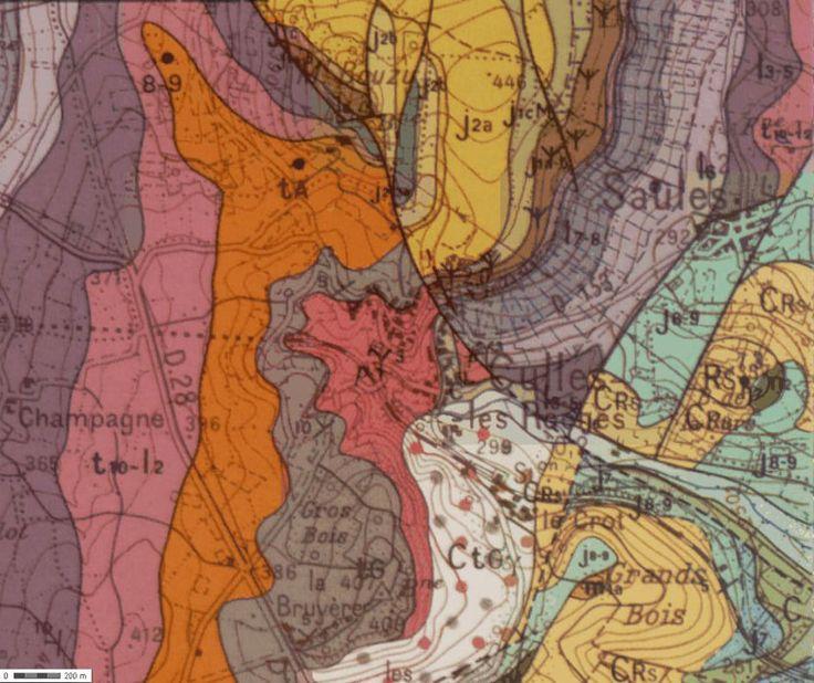 Carte géologique de Culles les Roches