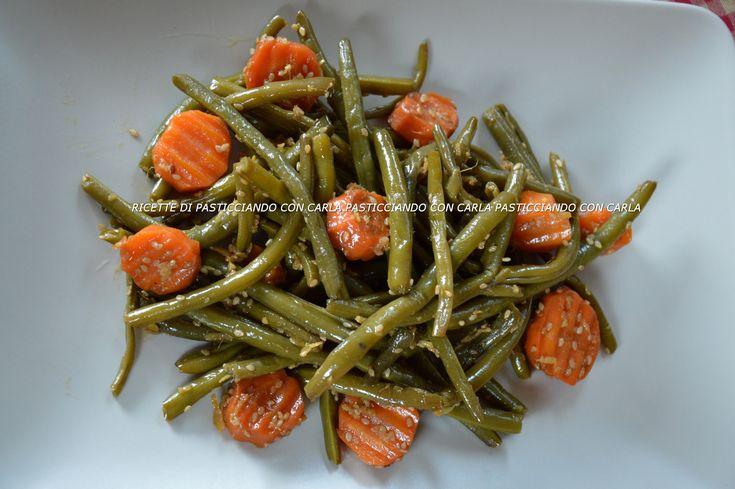 Fagiolini con carote zenzero e sesamo12