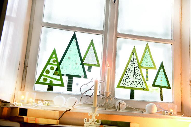 Basteln and bauchmuskeln on pinterest for Fensterdeko weihnachten basteln papier
