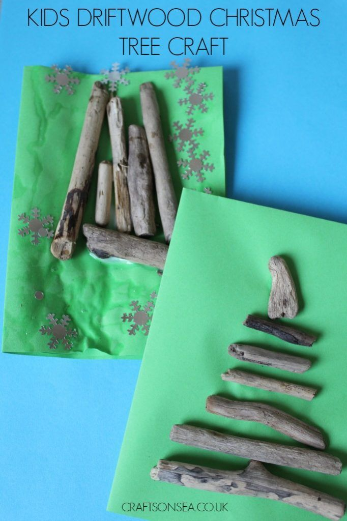 Make the most of free crafting materials with this easy driftwood Christmas tree card kids can make.