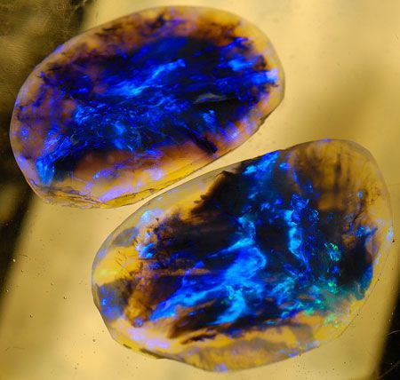 Lightning Ridge Black Opal. It gets its name from a real Australian town in New South Wales and is one of the rarest kinds of opal on the planet