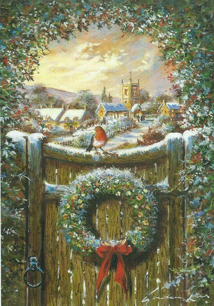 A beautiful country scene at Christmas