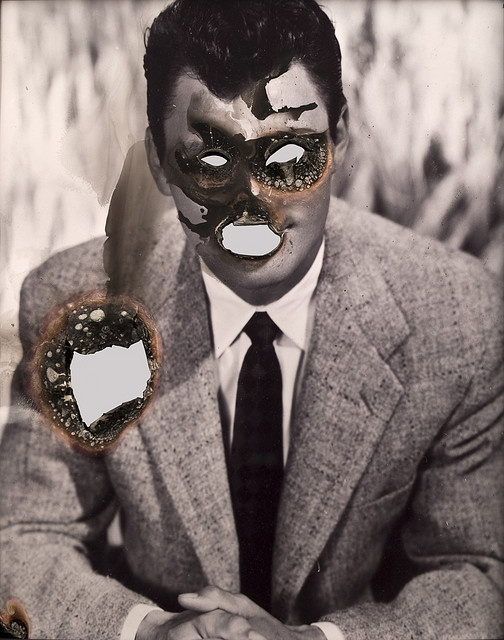 Self-Portrait of You + Me, (Jack Palance), 2006 Smoke and mirror    Douglas Gordon  2006  66x61.3cm  JWT NY, 3rd floor