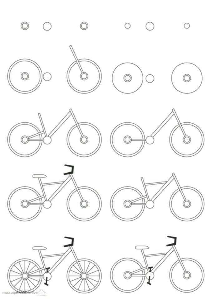 Kolay Bisiklet Cizimi Easy Drawings Bicycle Drawing Drawings