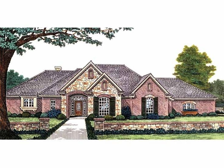 Best 25 brick ranch house plans ideas on pinterest for Brick homes with stone accents