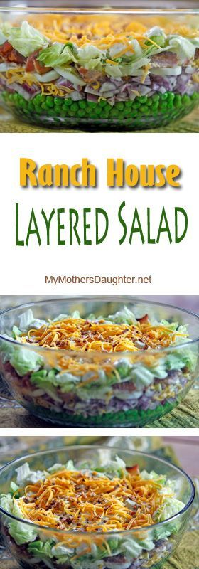 "My ""Ranch House Layered Salad"" has been a family favorite for years. I first made it back in the early 80's and it was a recipe that was given to me by someone from Wichita, Kansas."