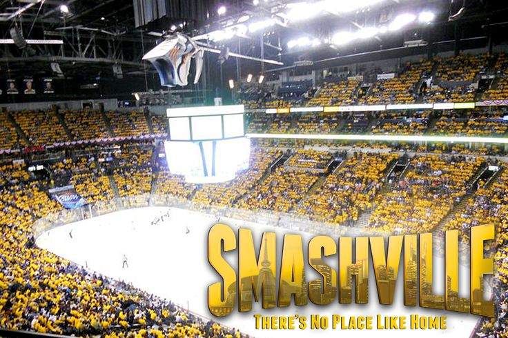 gold out smashville theres no place like home hockey