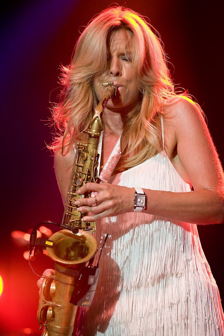 Candy Dulfer. RESEARCH #cSw:) - https://www.pinterest.com/claxtonw/jazz-and-all-that/ - JAZZ AND ALL THAT, woman musician in a field with few headliner saxophone players: A Dutch smooth jazz & funk alto saxophonist who began playing at 6. She founded her band, Funky Stuff, when she was 14. Her debut album Saxuality got a Grammy Award nomination. Photo pinned via Natalie Carrington. CREDIT: Jazz Tube.