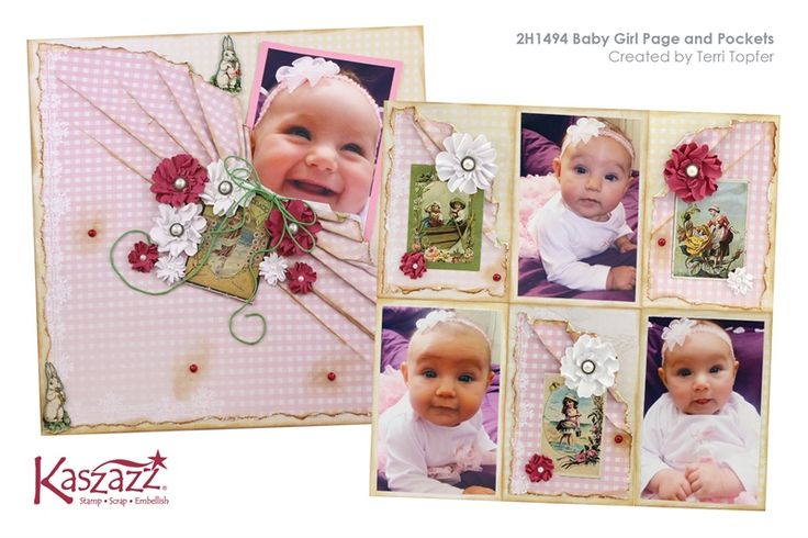 2H1494 Baby Girl Page and Pockets