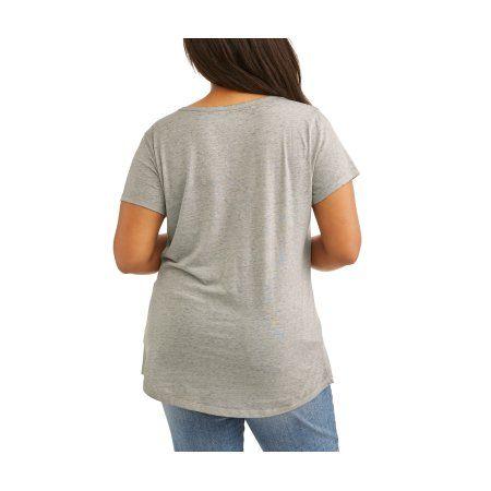 Plus Size Rocker Girl Juniors' Plus Burnout Scoop Neck Halloween Tee, Size: 2XL, Gray