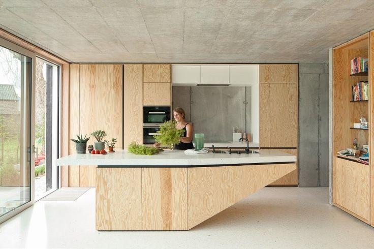 .. TDH : i.s.m.architecten beton + multiplex keuken