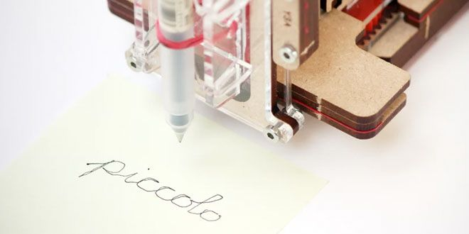 Piccolo es un pequeñop CNC-bot para dibujar y escribir http://j.mp/1I1Gmuz |  #Arduino, #Bot, #Gadgets, #Piccolo, #Robot