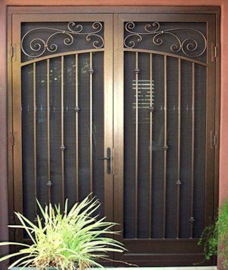 38 best security doors gates images on pinterest iron for Screen door for double door entry