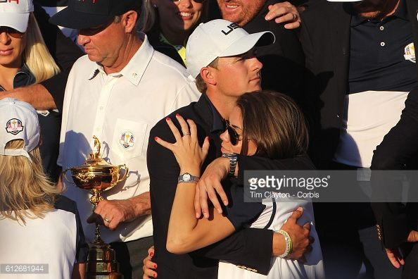 ... Ryder Cup 2016 Day Three Jordan Spieth and his partner Annie Verret as the United States ...