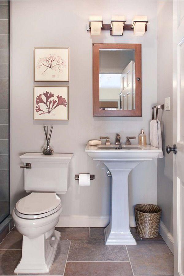 30 Small Bathroom Design Ideas Small Bathroom Solutions Small Half Bathrooms Small Space Bathroom Small Bathroom Decor