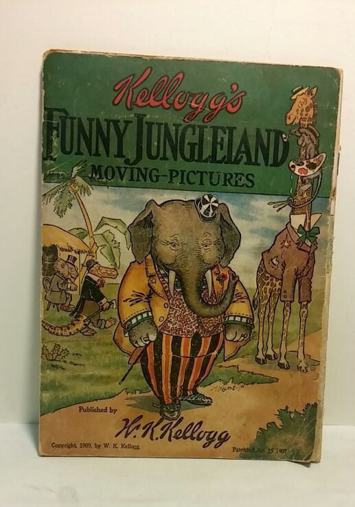 Kelloggs Funny Jungleland Moving Pictures Book - 1907 by AwesomeCEF on Etsy
