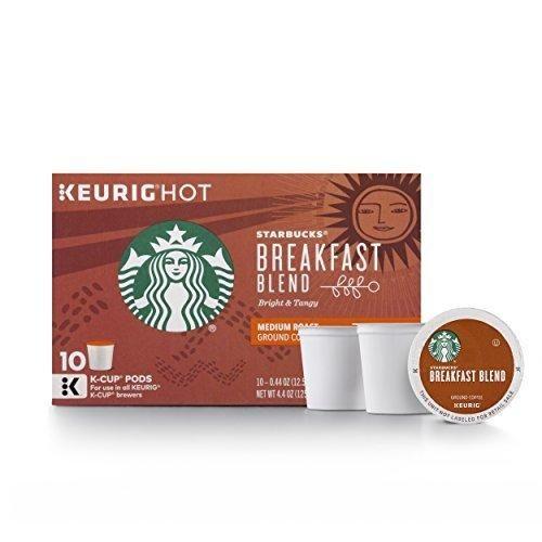 Starbucks Breakfast Blend Medium Roast Single Cup Coffee for Keurig Brewers 6 Boxes of 10 (60 Total K-Cup pods)
