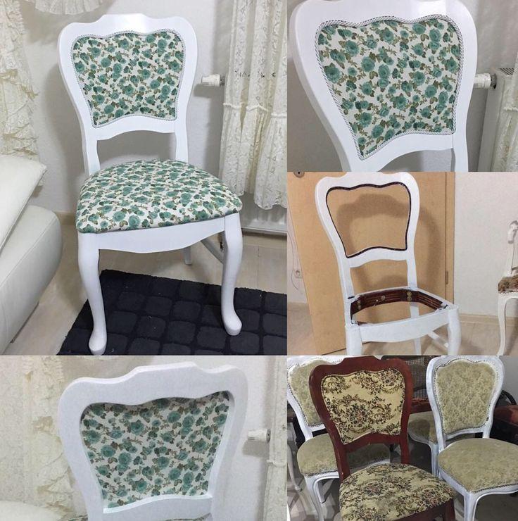 Vorher nachher diy chippendale barock vintage stuhl türkis blumen