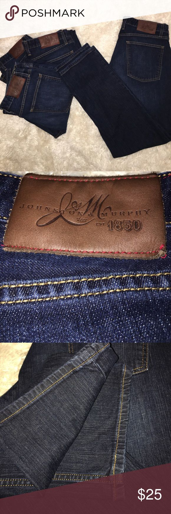 Johnston & Murphy Regular Fit LIKE NEW, worn only a couple times because they are too large now, regular fit, perfect condition. Johnston & Murphy Jeans