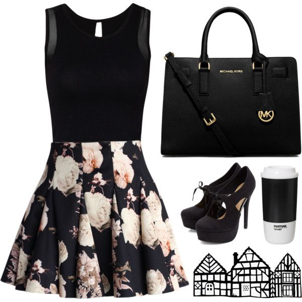 A fashion look from January 2015 featuring Chicwish mini skirts and Michael Kors handbags. Browse and shop related looks.
