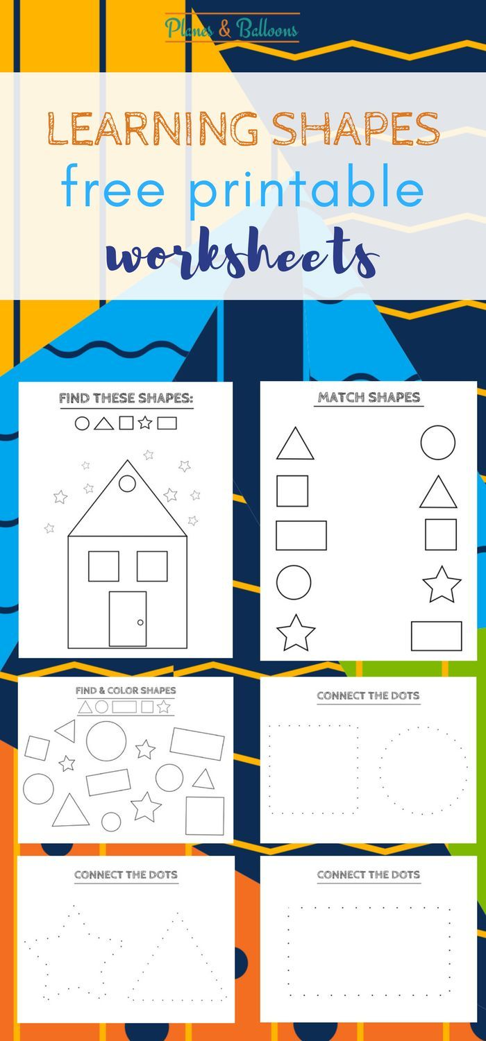 Kinder Garden: Free Printable Shapes Worksheets For Toddlers And