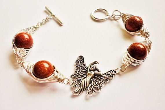 wire wrapped bracelet for gift wire by SHINEmagicJewellery on Etsy