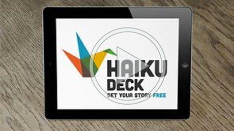 Haiku Deck - prosty program, przeznaczony do tworzenia prezentacji multimedialnych. Bardzo prosta obsługa, łatwość dzielenia się wykonanymi prezentacjami.