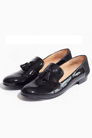 Vanishing Elephant Loafers - Black Patent/Pony Hair – Eclectic Ladyland