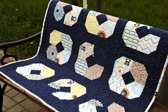 Modern quilt/ For baby/ Riley Blake by KristinaForYou on Etsy, $150.00