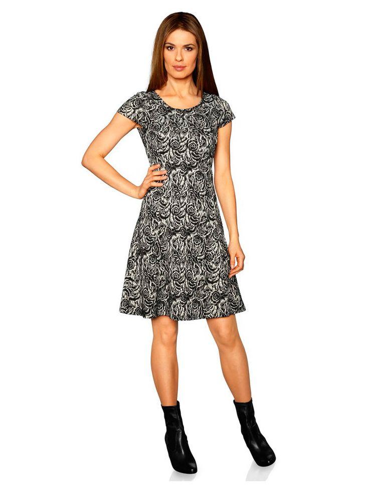 Control jacquard dress