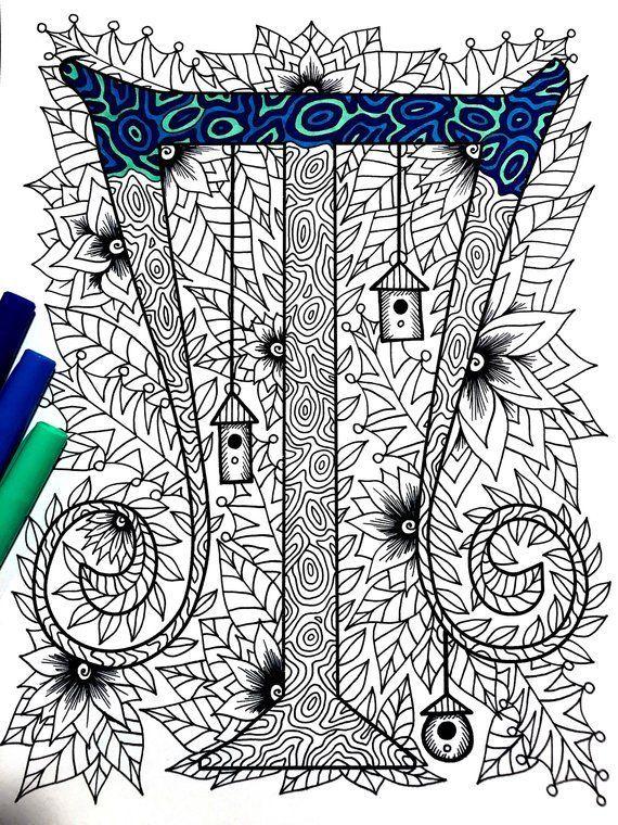 Letter T Zentangle Inspired By The Font Penelope Etsy Mandala Malvorlagen Zentangle Muster Zeichnen