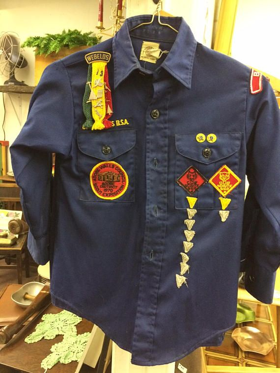 1970 Cub Scout Uniform 165 Borger Texas Shirt And 2 Pair Of