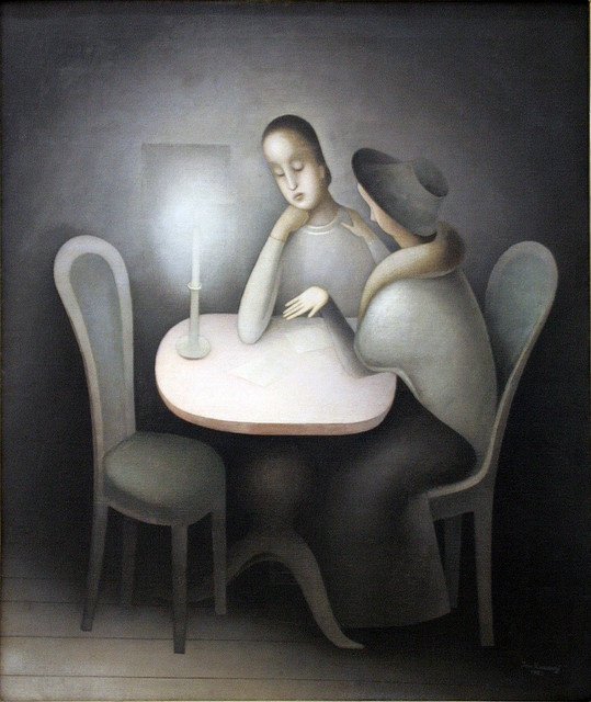 Jan Zrzavy - Girl Friends, 1923, oil on canvas