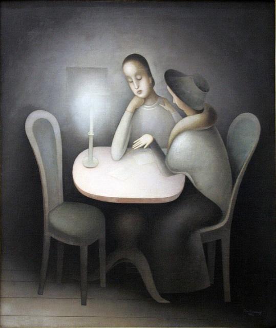 Jan Zrzavy - Girl Friends, 1923, oil on canvas